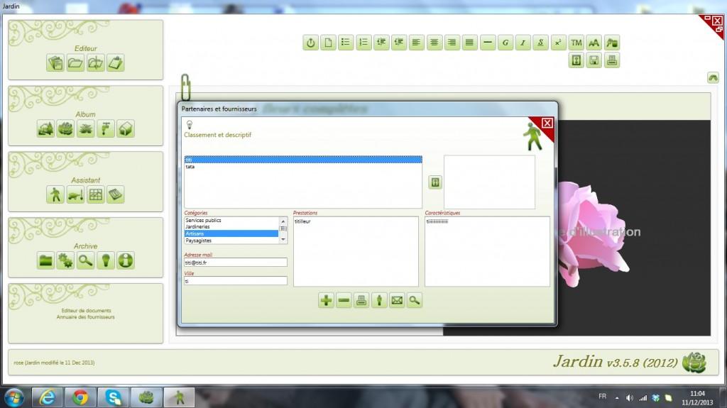 logiciel de jardin v3.5.8
