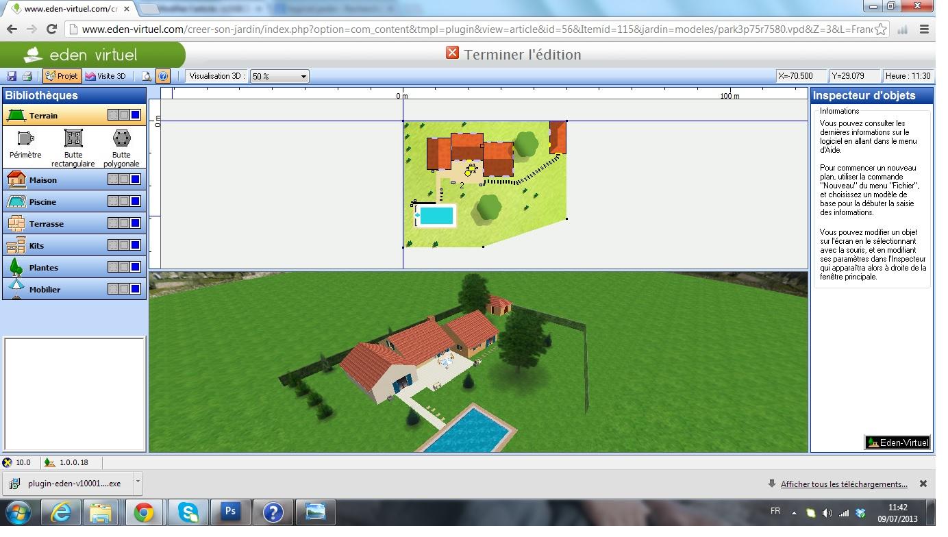 Eden virtuel creer son jardin en 3d logiciels jardins le guide - Jardin 3d gratuit en ligne ...