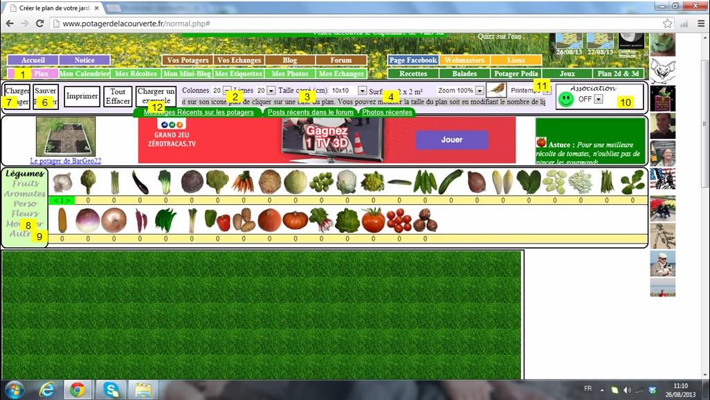 Test cr ation potager de la d couverte logiciel gratuit - Paysager son jardin logiciel gratuit ...